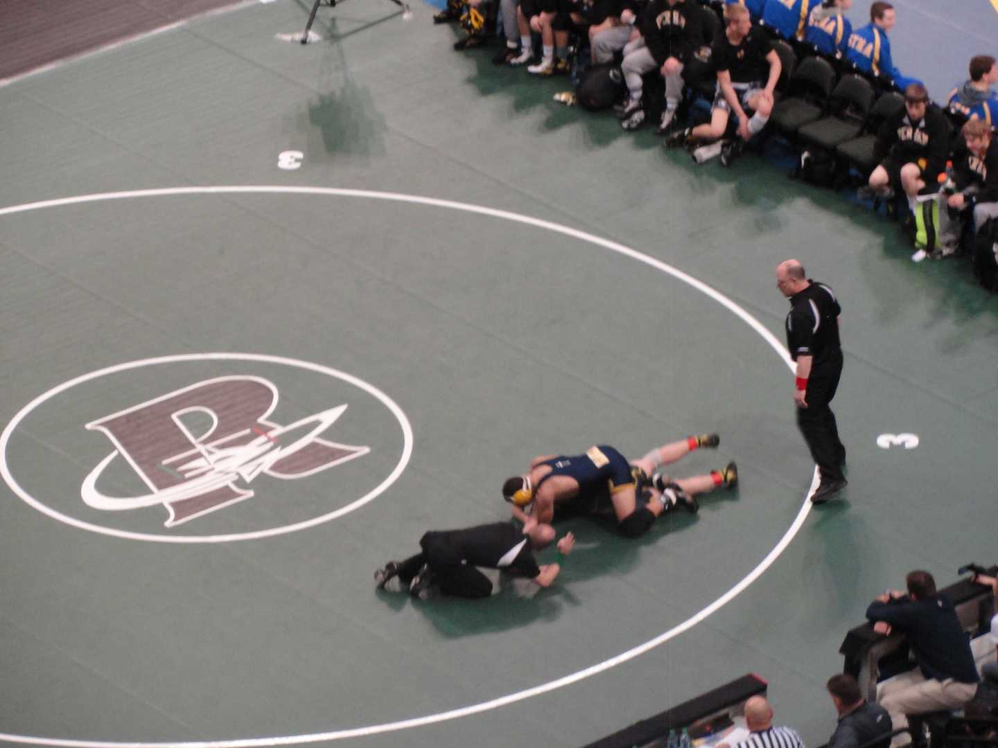 Jared Florell pins his opponent.