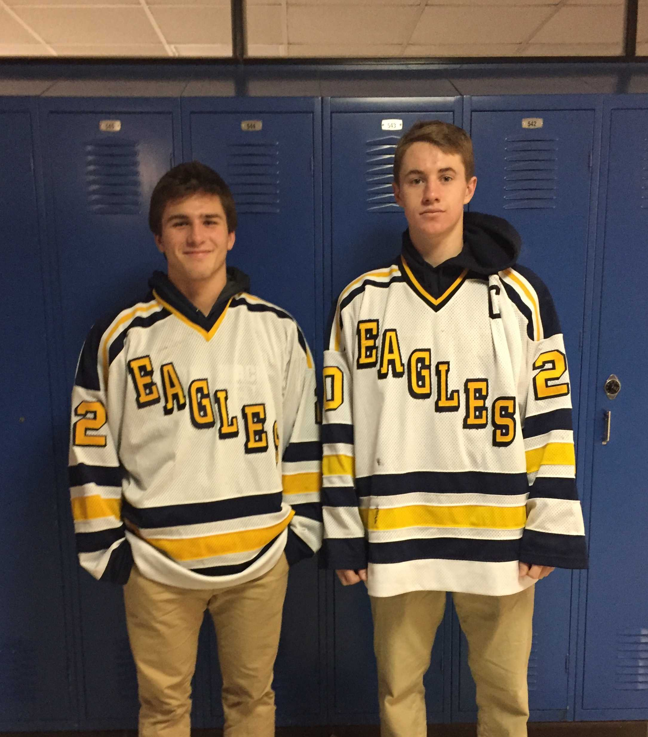 Pictured: Seniors Cam Fagerlee and Sam Hentges