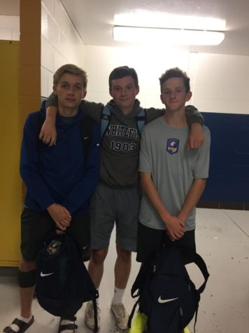 Pictured: (Left to Right) Jr. Parker Jaeger, Jr. Macallan McSherry, and So. Liam Vance